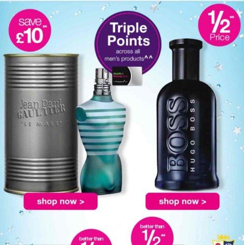 superdrug Father's Day half price fragrance sale