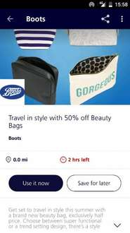 O2Priority - Travel in style with 50% off Beauty Bags @ Boots