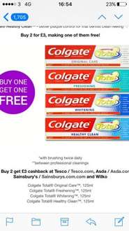 Free colgate total toothpaste with checkoutsmart at asda (£3)