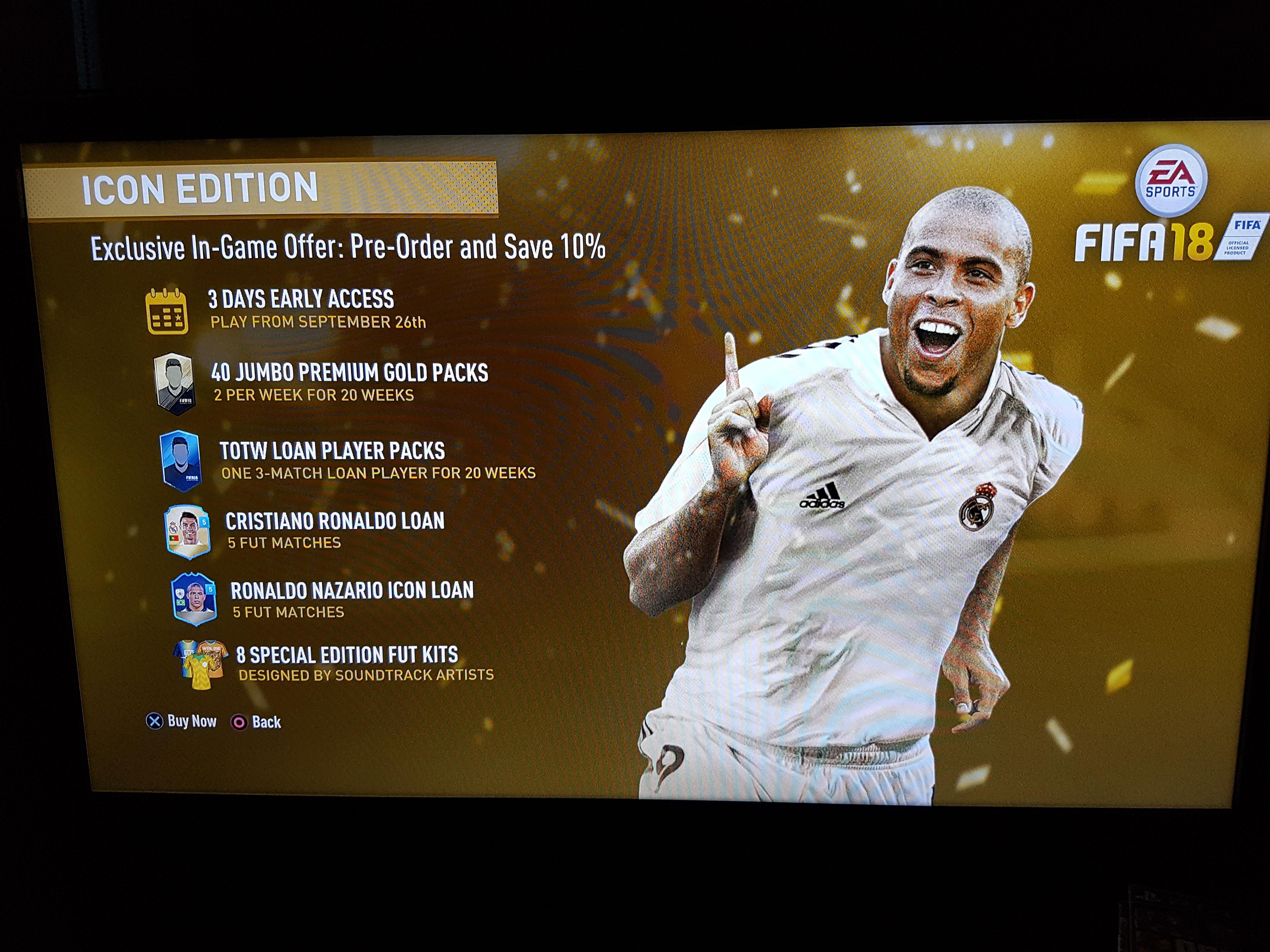 FIFA 18 Icon Edition 10% off £80.99 @ Fifa Store
