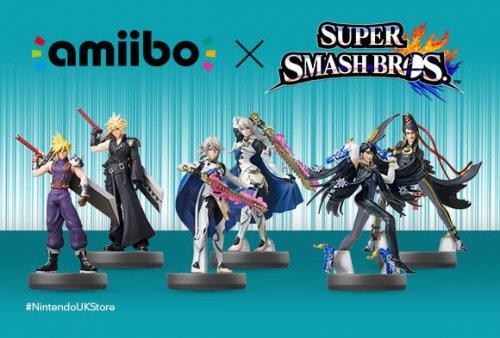 Bayonetta, Cloud and Corrin Super Smash Bros. amiibo £10.99 now available on Nintendo Store!