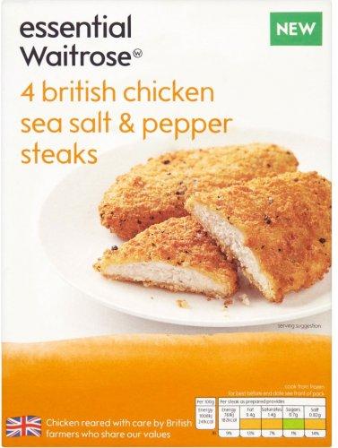 Essential Waitrose British Chicken Sea Salt and Pepper Steaks (4 = 380g) ONLY £1.00 @ Waitrose
