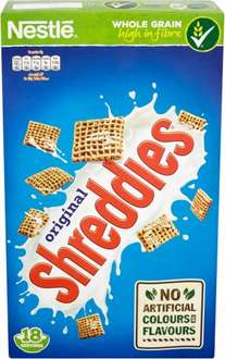 Nestle Shreddies (750g) was £3.39 now £1.69 @ Ocado