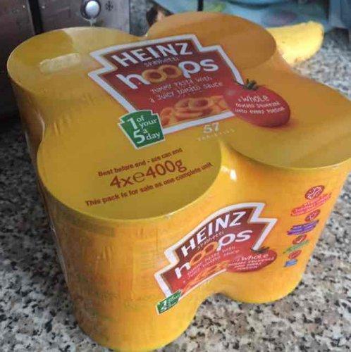 4 pack Heinz Spaghetti Hoops £1 @ Farmfoods