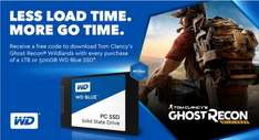 Receive a Free code to download Tom Clancy's Ghost Recon Wildlands with every purchase of  WD Blue SSD 500GB (£136.97) or 1TB (£278.92) @ ebuyer