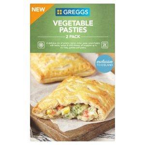 Greggs 2 Vegetable Pasties 310g | Greggs | Frozen Pies | Frozen | Iceland Groceries - £1