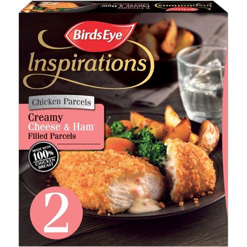 Birds Eye Inspirations 2 Chicken Creamy Garlic and Herb Filled Parcels / Birds Eye Inspirations 2 Chicken with Cheese & Ham Sauce240g was £2.00 now £1.50 (Rollback Deal) @ Asda