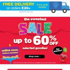 Smiggle Up to 60% off selected items plus free delivery on orders £30