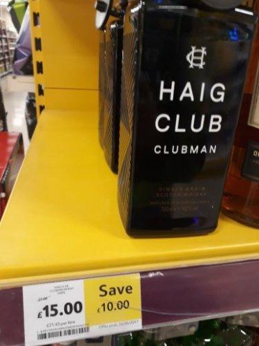 Haig club £15 @ Tesco
