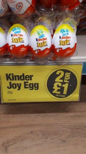 Kinder Egg Joy eggs - 2 for £1 Poundland