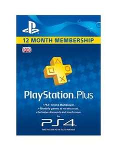 Playstation 4 Plus Subscription 1 Year (365 Days) £29.99 @ very