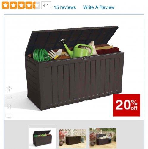 large garden outdoor  storage box £23.99 Wickes