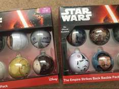 Official Star Wars Baubles. £2.99 a pack in Game - MERRY CHRISTMAS