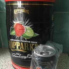 Kopparkeg Strawberry and Lime 5lt keg with free 'can' speaker £18 at Tesco instore