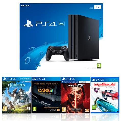 Playstation 4 Pro w/ Horizon Zero Dawn, Wipeout, Tekken 7 and Project Cars £379.99 @ Costco