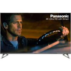 """Panasonic TX-50DX700B 50"""" Freeview HD and Freeview Play Smart 4K Ultra HD with HDR TV - Black / Silver £529 @ao.com"""