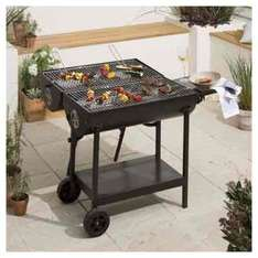 Double-sided Oil Drum Charcoal BBQ, Black was £85 now £50 @ Tesco Direct