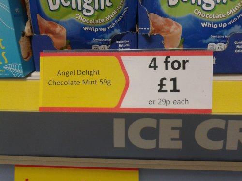 4 packs of Mint Chocolate Angel Delight £1 @ Heron