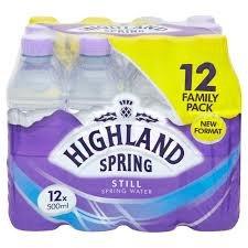 Highland spring 12 x 500ml £2.00  instore tesco