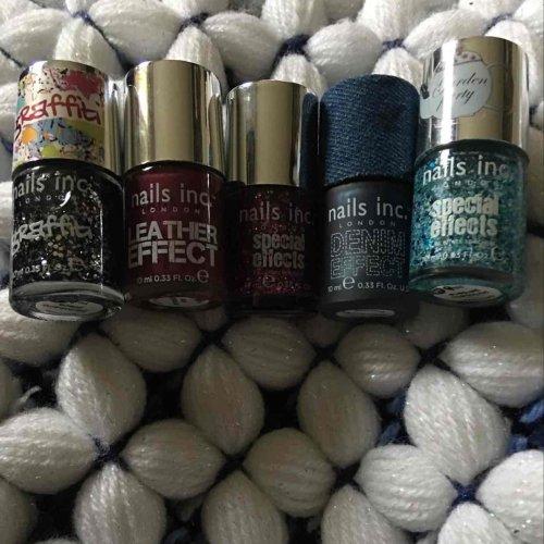 nails inc 10ml bottles.  Poundland £1 each