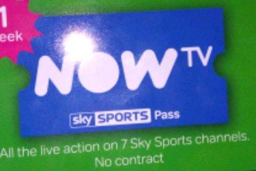 NowTV Week Sky Sports Pass 20% off - £8 - Asda