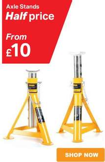 Halfords 2 Tonne Axle Stands £10.00 or 3 Tonne Stands  £12