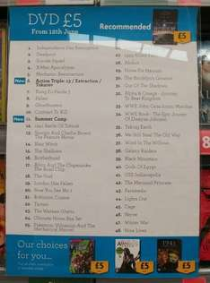 £5 DVD's, £2 Albums - @ Morrisons -  Lowestoft
