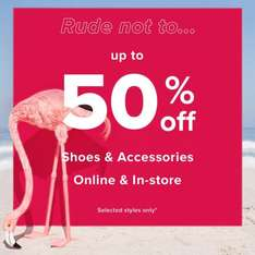 Up to 50% off shoes and accessories @ river island