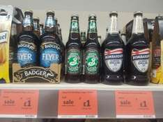 Half price Ale: Bombardier/Badger/Tribute/Fullers ESB Ale/Brooklyn Lager £1 @ Sainsbury's - (West Drayton)