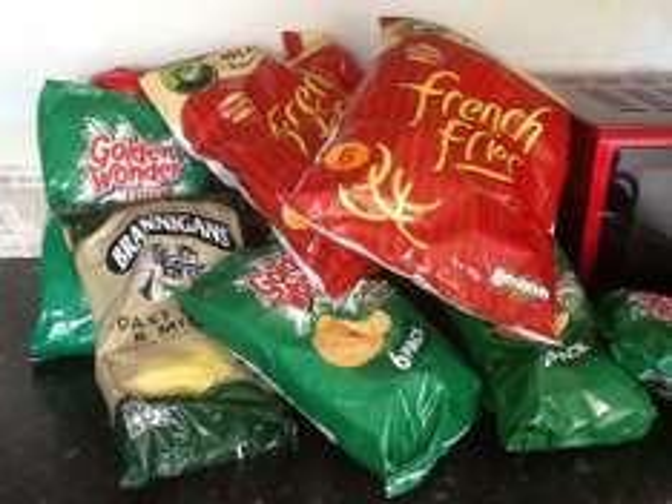 Half price crisps...Poundland...50p instore