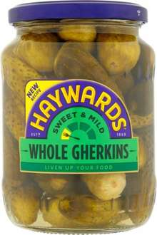 Haywards Gherkins 660g (Drained Weight 370g) was £1.85 now Only £1.00 @ Sainsbury's