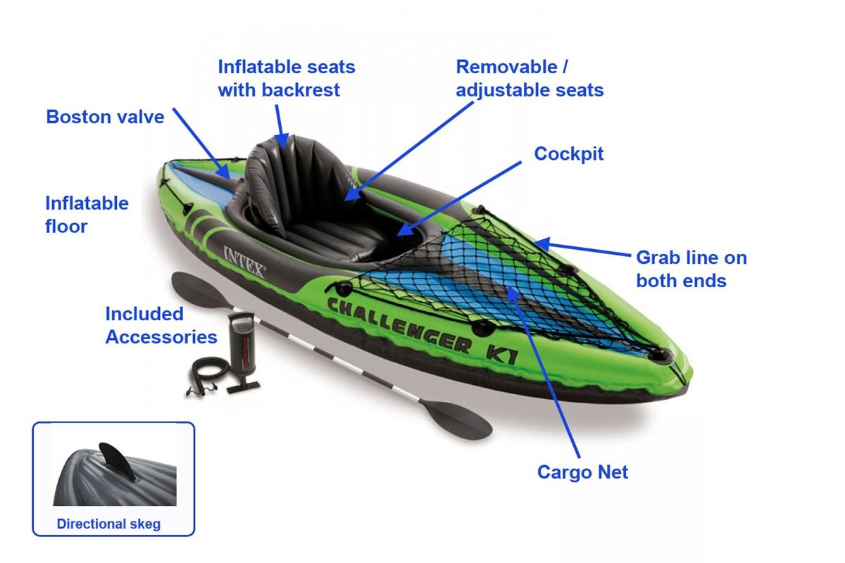 Intex Challenger K1 single kayak £49.99 plus £4.50 del @ Charles Direct