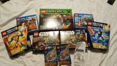 Lego on sale at asda from £1 minecraft / star wars / city &  more