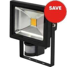 20w Floodlight with PIR Motion Sensor - £11.99 inc. vat from JTF