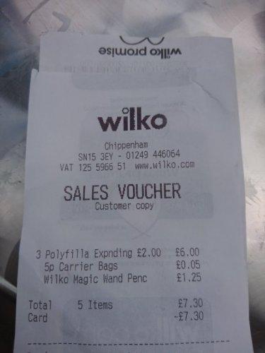 Polyfilla Expanding Foam 825ml can £2 @ Wilkos