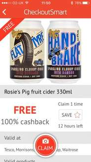 Free westons cider on Checkoutsmart