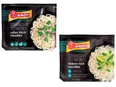 Amoy Straight to Wok Udon Noodles or Ribbon Rice Noodles 2x150g - 64p per pack with PYO @ Waitrose
