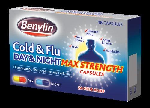 3 Packs (48 Caps) Benylin Cold & Flu Day & Night Max Strength - £2.00 Delivered @ Chemist4U