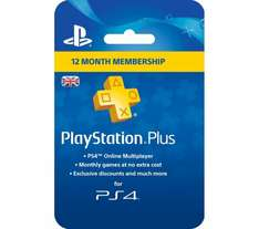 12 month PlayStation Plus £29.99 @ Currys