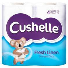 Cushelle Fresh Linen Scented Toilet Rolls 4 per pack was £2.95 now £1.47 @ Ocado