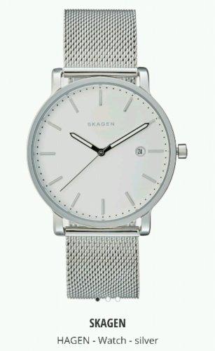 Skagen Silver Mens Watch - £68.90 (inc P&P) at Zalando Lounge UK