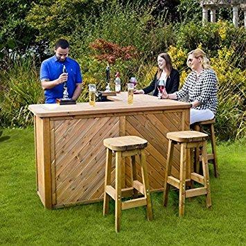 Anchor Fast Garden Bar and Stool Set £599.98 Costco