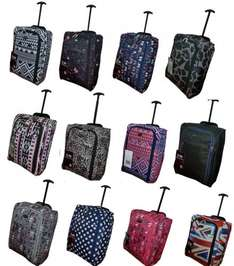 Cabin Hand Luggage Suitcase Ryanair Wheeled Trolley Travel Case Bag 50cm x 40cm x 20cm ONLY £9.99 + Free Delivery from EBay / a2zukproducts