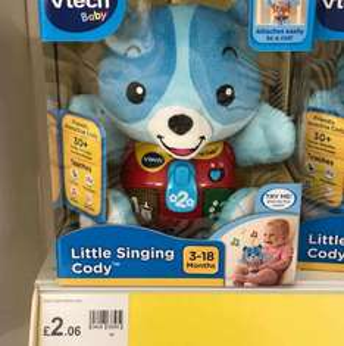 Little singing Cody £2.06 @ Wilkinsons