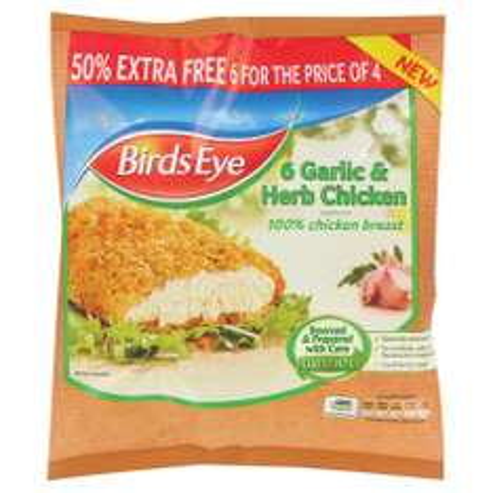 Birds Eye Garlic & Herb Chicken Steaks (5pk) £1.75 @ Heron