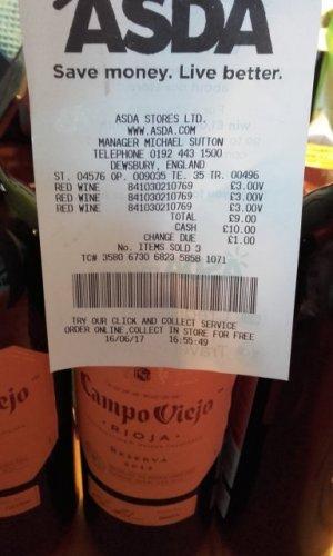 Campo Viejo Rioja Reserva 2012  £3  in Asda