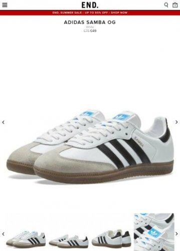Adidas Samba OG (White) - £49 @ End Clothing (£2.95 del)