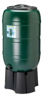 210 litre Water Butt, complete with stand, filler & tap £25 Del @ Amazon