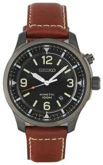 Seiko Men's Black Dial Kinetic Watch £79.99 delivered @ Argos eBay