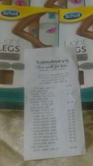 Scholl tights - £1 instore @ Sainsbury's Grantham